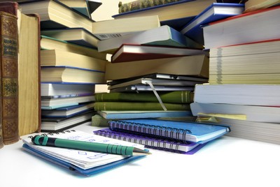 stack of books story sci stock photo for exercise