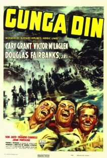 movie poster for the Cary Grant classic adventure film Gunga Din