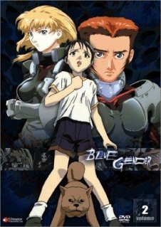 Movie poster for Blue Gender, a Japanimation series by Ryosuke Takahashi and Koichi Ohata, on Minimalist Reviews.