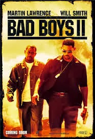 movie poster for classic guy movie Bad Boys II starring Martin Lawrence and Will Smith