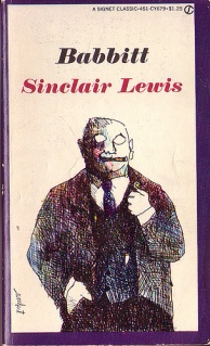 Book cover for Babbit, a literary novel by Sinclair Lewis, on Minimalist Reviews.