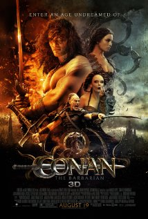 Movie poster for Conan the Barbarian remake 2011, a film by Marcus Nispel, on Minimalist Reviews.