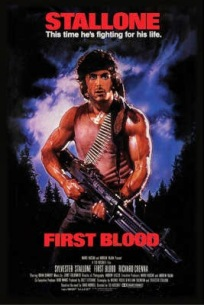 movie poster for Rambo: First Blood, starting one of the most famous action franchises