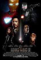 Movie poster for Iron Man 2, a film by Jon Favreau, on Minimalist Reviews.