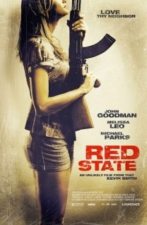 red state movie poster for minimalist review of the movie film Red State by Kevin Smith