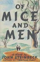 Book cover for Of Mice and Men, a literary novella by John Steinbeck, on Minimalist Reviews.