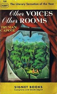 Book cover of Other Voices Other Rooms, a literary novel by Truman Capote, on Minimalist Reviews.