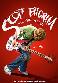 Movie poster for Scott Pilgrim vs The World, a film by Edgar Wright, on Minimalist Reviews.