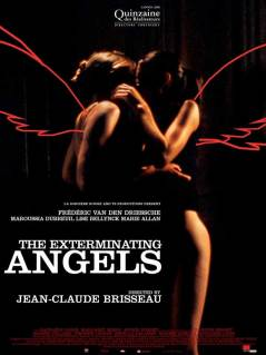 Movie poster for Exterminating Angels (Les anges exterminateurs), a film by Jean-Claude Brisseau, on Minimalist Reviews.