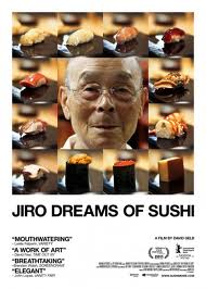 poster for Minimalist Review of Jiro Dreams of Sushi, a documentary film by David Gelb