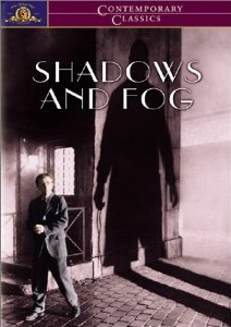 Movie poster for Woody Allen's film Shadows and Fog 1991 on Minimalist Reviews.
