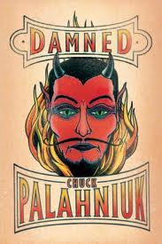 Book cover for Damned, a novel by Chuck Palahniuk, on Minimalist Reviews.