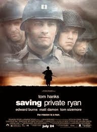 movie poster for Stephen Spielberg's World War II movie epic Saving Private Ryan