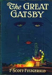 Book cover for The Great Gatsby, a classic literary novel by F Scott Fitzgerald, on Minimalist Reviews.